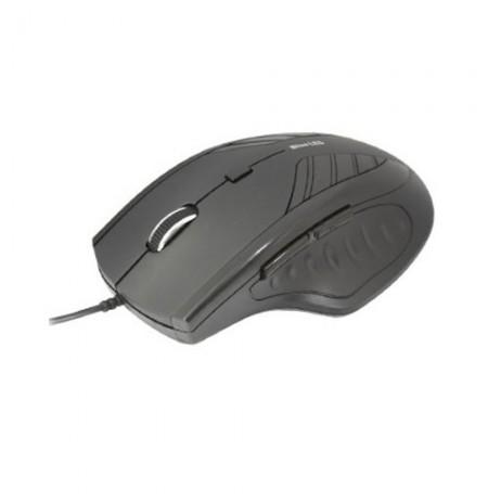 Intopic MS-BL072 Blue LED Mouse - Hitam
