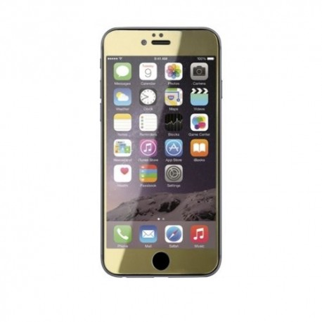Gambar Ahha Colored Tempered Glass iPhone 6 Bullet Gold