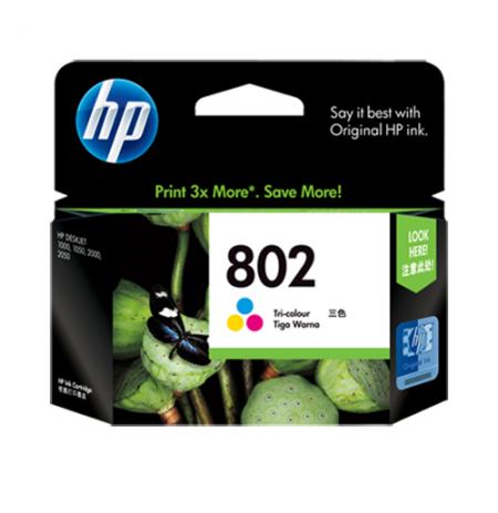 HP 802 Small Tri Color Cartridge