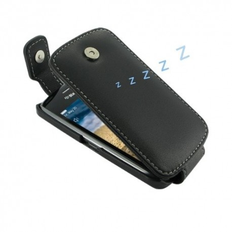 Pdair Leather Case Flip blackberry 9380