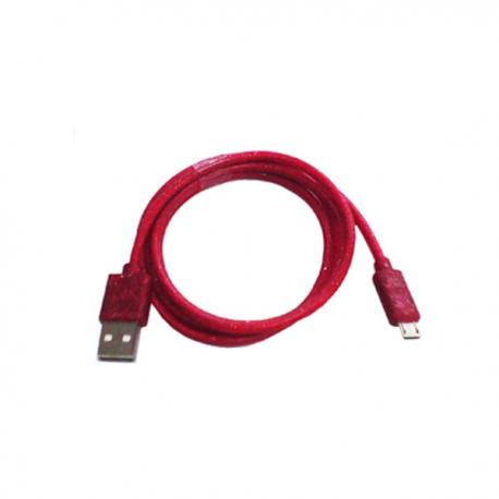 Lexcron Micro USB Gliter 1M - Merah