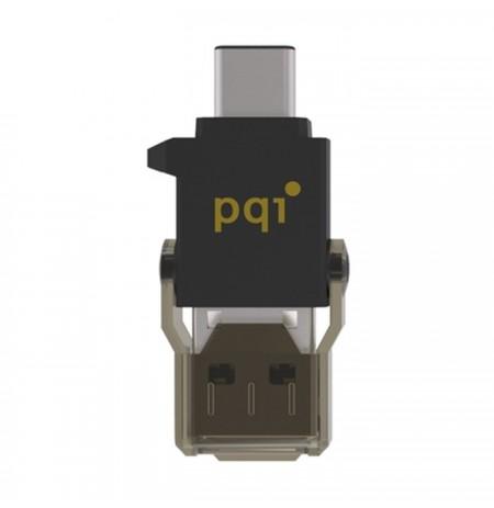 PQI Connect 312 Type C 0GB Hitam