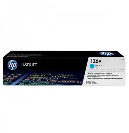 HP 126A Cyan Original LaserJet Toner Cartridge (CE311A)