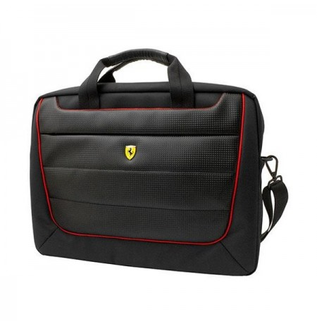 Ferrari Computer Bag Piping 15 inch Black