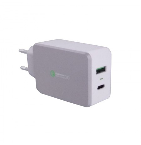 Optimuz QC030PT 2 Ports QC 3.0 Wall Charger Type C