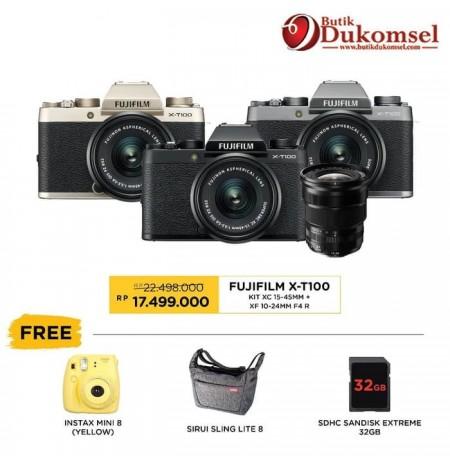 (PRE-ORDER) Fujifilm X-T100 Kit + XF 35mm F1.4 R
