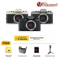 (PRE-ORDER) Fujifilm X-T100 Body Only + Tripod Sirui 3T-35K
