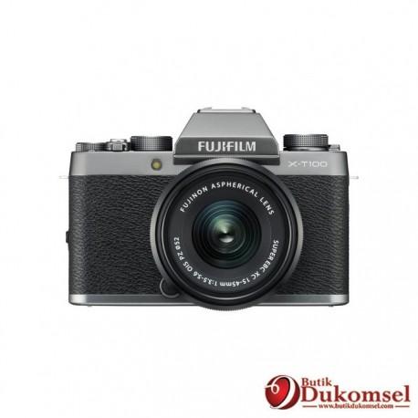 Fujifilm Finepix X-T100 XC15-45mm KIT + Instax Mini 8 + Sirui + Tripod +SDHC Sandisk Dark Silver
