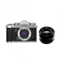 Fujifilm Finepix X-T3 EE Silver & Lensa XF 35mm F1.4