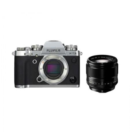 Fujifilm Finepix X-T3 EE Silver & Lensa XF 56mm F1.2R