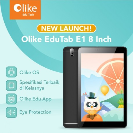 Olike EduTab E1 8 Inch - Black