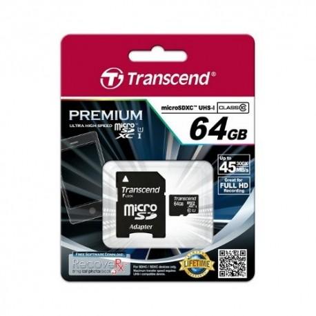 Transcend MicroSD 64GB UHS C10