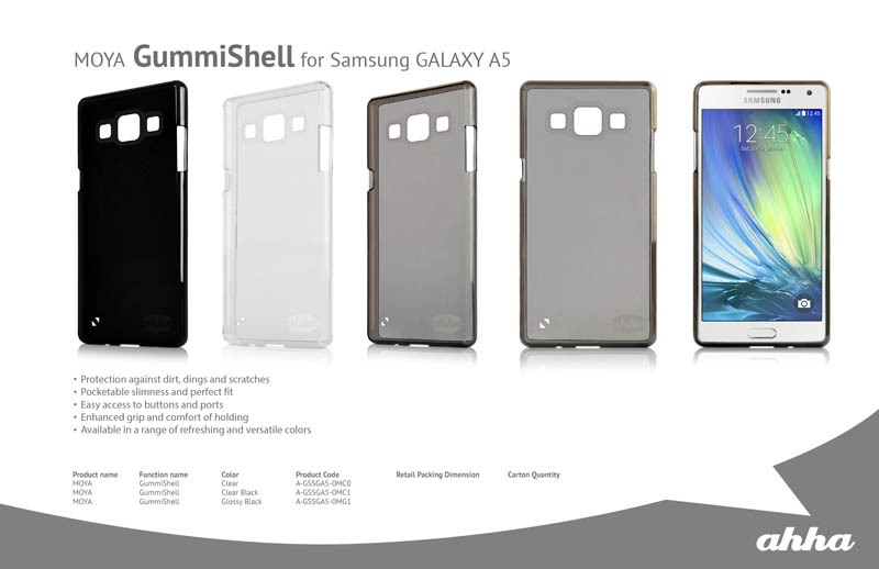 Spesifikasi Ahha Moya Gummishell Samsung Galaxy A5 - Clear