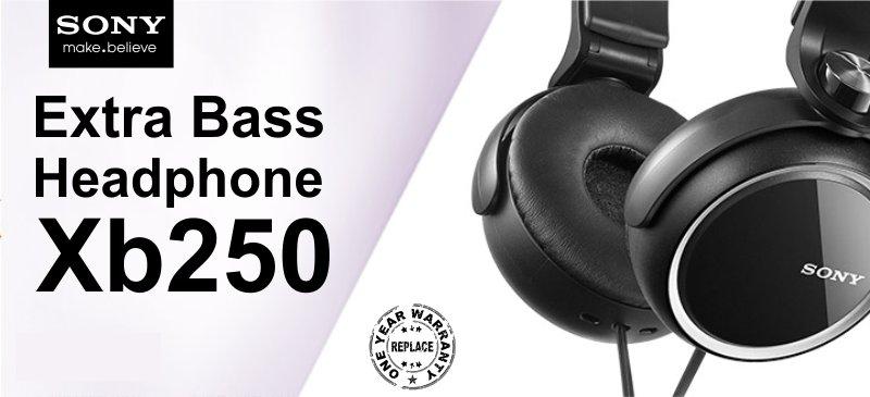 sony extra bass. deskripsi produk of sony mdr-xb250/b extra bass (xb) headphone - hitam. produk. image. sony xb250 hitam c